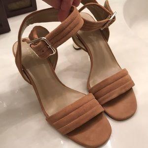 Ann Taylor suede sandal heels